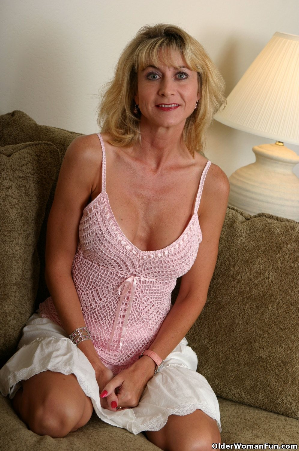 Hot grandma lana strips off her clothes