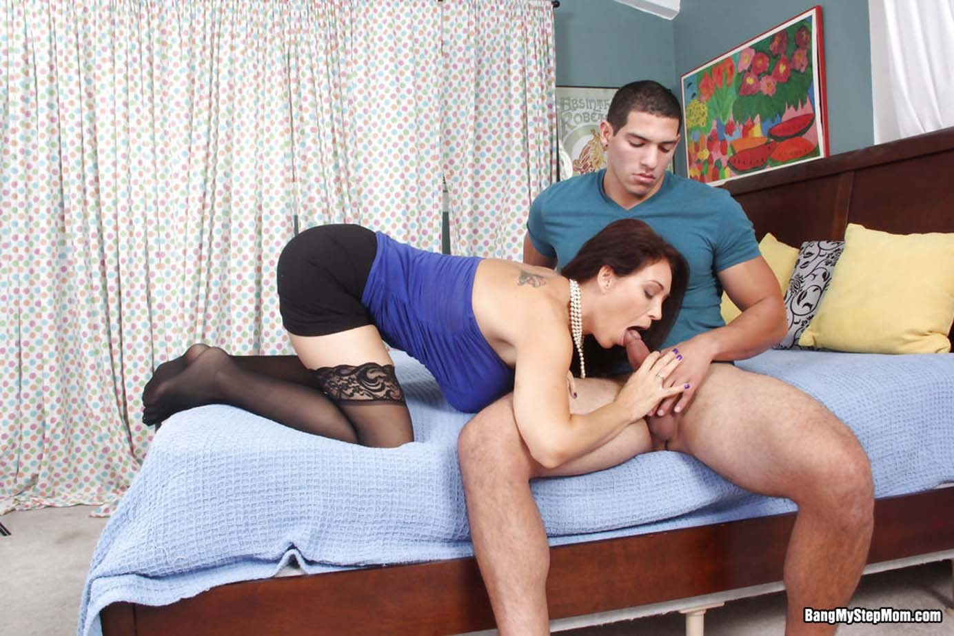 Stepmom charlee chase in action with her stepson