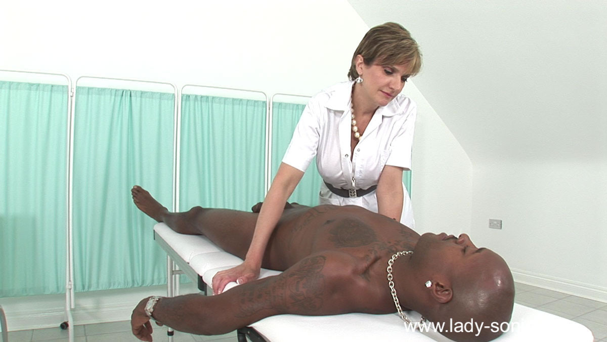 This fetish gallery is all about lady sonia and her new black male slave