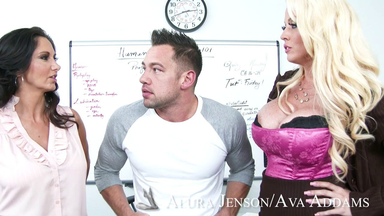 Horny teachers alura jenson and ava addams at work