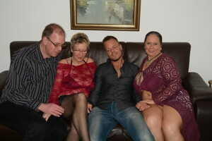 Old & fat amateur granny enjoys hardcore foursome with younger mature couple