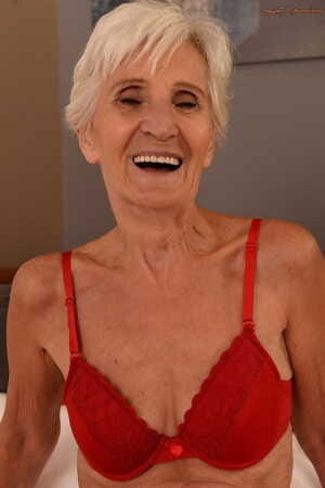 Slender old grandmother Viviana enjoys this stiff dick in several sex poses