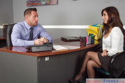 Slender office secretary Reena Sky is being fucked in her juicy ass