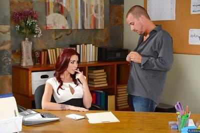 Reality fuck scene with a milf teacher Eva Notty and her student