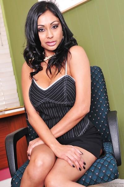 Curvy indian MILF Priya Rai stripping and spreading her legs