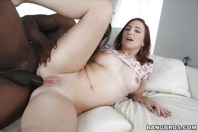 Redheaded MILF Sophia Locke taking huge black penis in filthy asshole