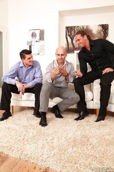 Seductive sluts on high heels are into groupsex with three naughty guys