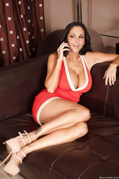 Ava Addams is cleaning up in a sexy dress and then taking a hot bath