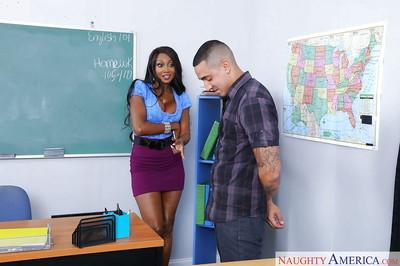 Black mom and teacher Diamond Jackson sucks her student