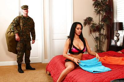 Promiscuous latina wife Isis Love blows and fucks a big cock
