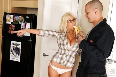 Sexy housewife with big tits Puma Swede shows her pornstar potential
