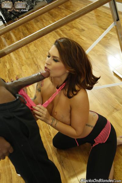 Eva angelina sucks and makes love giant black cock