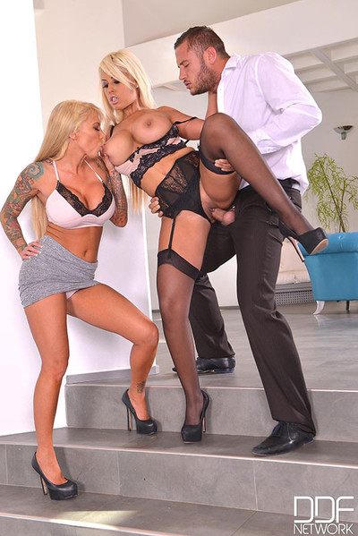 Double busty blondes get from hope jock