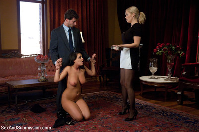 Charley go after and katie kox are perspired and titsy submissives in this great role pla