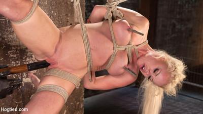 Fairy-haired bombshell explodes in demanding bondage!!