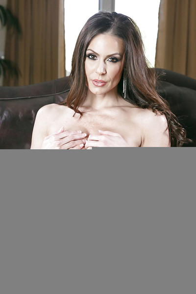 Giant bottomed MILF Kendra Craving removes red dress for nude view