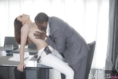 Busty babe Chanel Preston and black man hookup for hardcore interracial sexual act