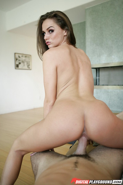 Spicy chicito Tori Black is licking his dickhead and riding on top