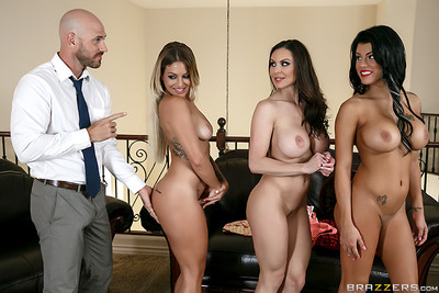 My triple wives dug in home orgy with me