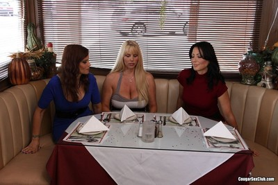 Karen fisher and her girlfriends sharing a young dick