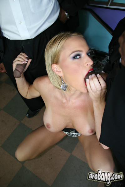 Krissy lynn benefits from gangbanged and facialed by brown males
