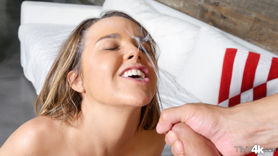 Dillion harper gets a face intact of cum