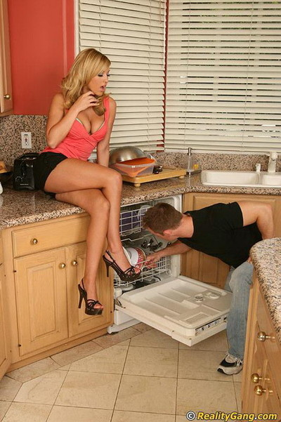 Perspired deed with a stunning blonde babe