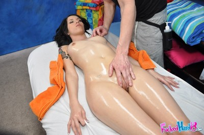 Callie cyprus getting oiled up and fucked doggystyle