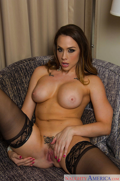 Nylons and underclothes make this amateur pretty Chanel Preston look like untamed