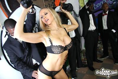 Busty blonde milf julia ann accepts bukkaked by several swarthy men