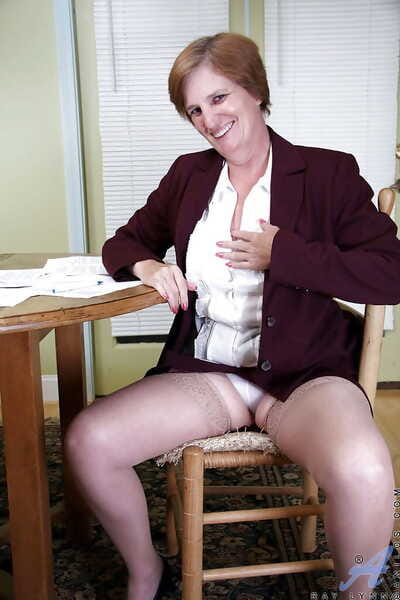 Fat mature in shiny nylons Ray Lynn caressing her ripe melons