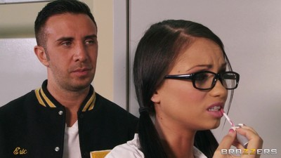 Raven bay and rikki six screwed in their classroom