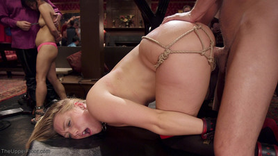Aj is a squirming slut, so it is decided she will be latched intila doggy positi
