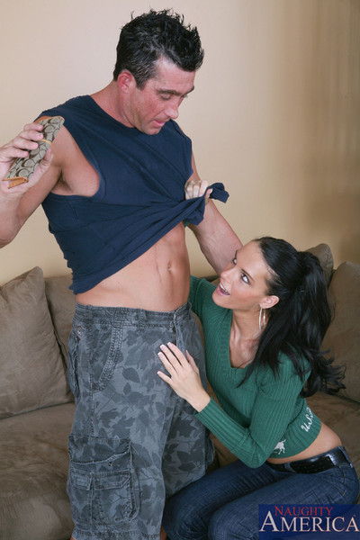Jennifer shady gobbles on a big thick cock