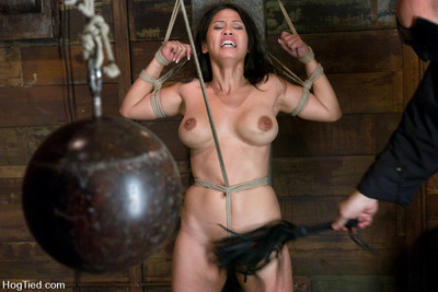 Hogtied Chinese jessica bangkok made to cum over and over