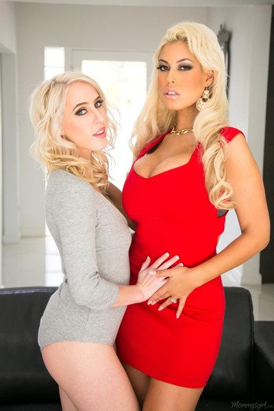 Bridgette b showing her lesbian attraction to cadence lux