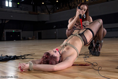 Two fabulous sweethearts indulge in perspired lesbian electro strength play.