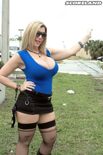 Boobsy street whore sara jay drilled for cash