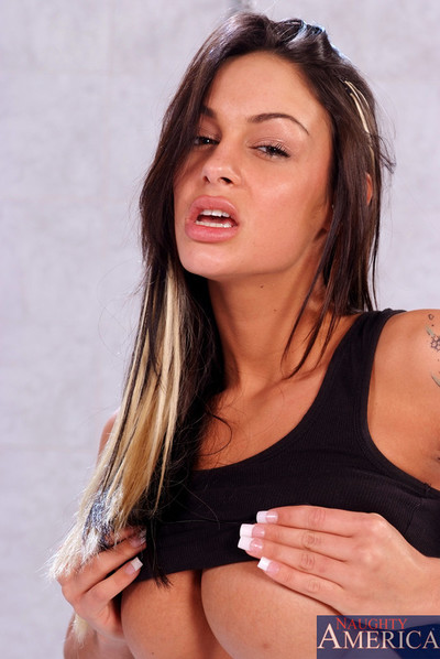 Angelina valentine bounces on a giant one