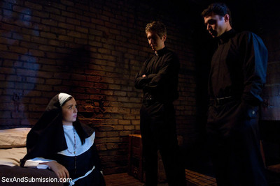 Naughty nun gets unforgiving corporal punishment & nasty domination!