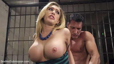 Kagney linn karter busty fairy is fixed firmly in prison and dug by