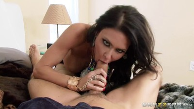 Busty jessica jaymes banged in her tense holes