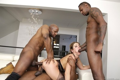Sheena shaw got her tense holes shared by 3 blacks