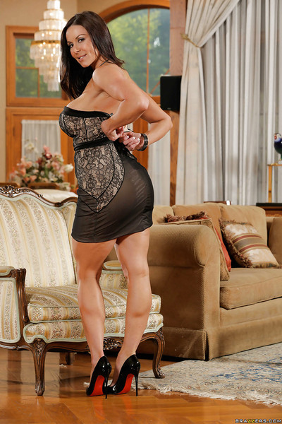 Milf babe Kendra Hunger is showing off in her favorite panties