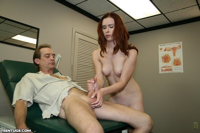 Amateur giving extreme cock stroking