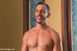 Bryan Cole endures bondage and edging in his first blear shoot ever.
