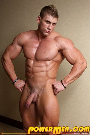 When big, handsome blond LiveMuscleShow muscleman Sven Gronstrom is caught admiring his own hard muscles by deviously clever fellow LMS er Kevin Conrad, the buff bodybuilder Sven is easily tricked into doubting his own size, hardness, influence and shape.