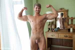 Logan Vaughn has his cock relentlessly edged added to his ass fucked with a dildo