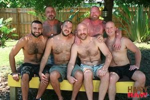 What bring to an end you get when you put together half a dozen horny, hairy bareback fuckers on a hot and humid afternoon in Ft. Lauderdale! You got proper loads -- and loads and loads -- of steamy sexy fun. Amplify us and cum watch these randy guys pain