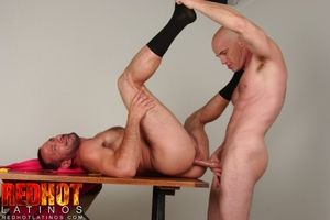 Ty Hudson and Sean Steele are twosome soldiers given the menial task of cutting overseas golden stars and pink triangles from felt, in this scene from the movie Unspeakable. Bored, Ty slaps a golden star on Sean, who slaps it off in annoyance. But when th